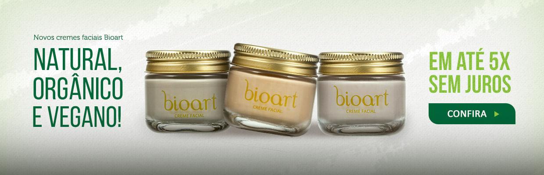 Novos cremes faciais Bioart em 5x sem juros!