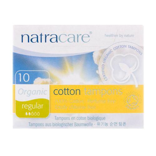 Absorvente-Interno-Organico-Cotton-Tampons-Regular-com-10-Unidades---Natracare-
