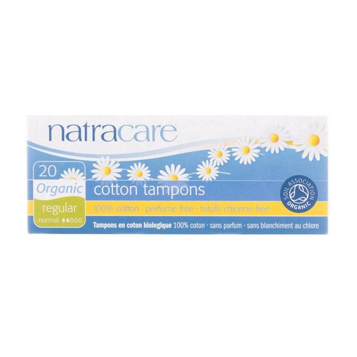 Absorvente-Interno-Organico-Cotton-Tampons-Regular-com-20-Unidades---Natracare-
