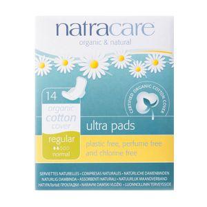 Absorvente-Organico-Ultra-Pads-Regular-com-Abas-14-Unidades-–-Natracare