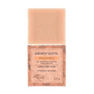 Sabonete-Vegetal-Natural-de-Argila-Amarela-100g---Arte-dos-Aromas