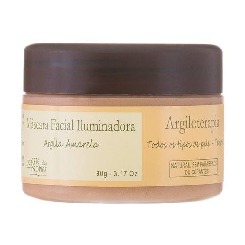 Mascara-Facial-Iluminadora-Natural-Argila-Amarela-90g---Arte-dos-Aromas