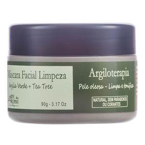 Mascara-Facial-de-Limpeza-Natural-Argila-Verde-e-Tea-Tree-90g---Arte-dos-Aromas