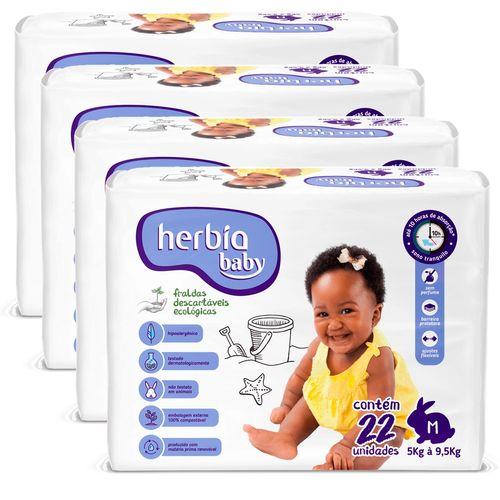 Kit-com-88-Unidades-de-Fraldas-Herbia-Baby-M---Herbia