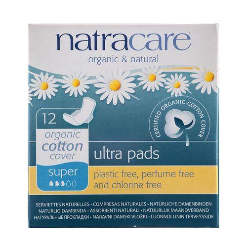 Absorvente-Organico-Ultra-Pads-Super-com-Abas-12-Unidades-–-Natracare