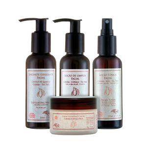 Kit-Facial-Organico-Pele-Mista-e-Oleosa-de-4-passos---Arte-dos-Aromas