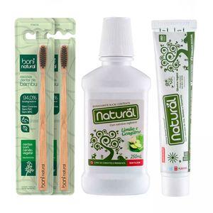 Kit-Casal-Higiene-Bucal-Natural-de-2-Escovas---Pasta-Dental---Enxaguante-Bucal