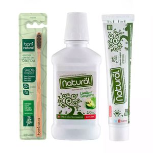 Kit-Higiene-Bucal-Natural-com-1-Escova---Pasta-Dental-e-Enxaguante-Bucal-Natural