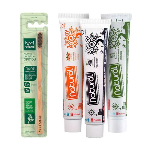 Kit-Escova-Dental-Natural-mais-3-Pasta-Dental-Natural-Contente-Sortidas