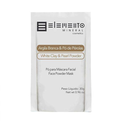 Argila-Branca-com-Po-de-Perolas-30g---Elemento-Mineral