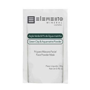 Argila-Verde-com-Po-de-Agua-Marinha-30g---Elemento-Mineral