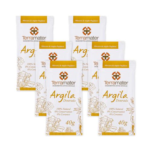Kit-6-Mascaras-de-Argila-Dourada-Organica-40g-–-Terramater