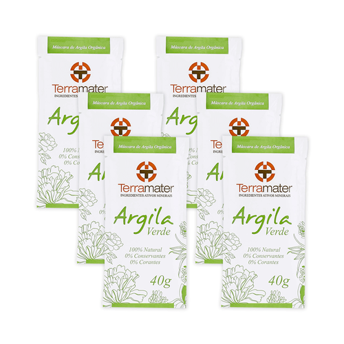 Kit-6-Mascaras-de-Argilas-Verde-Organica-40g-–-Terramater