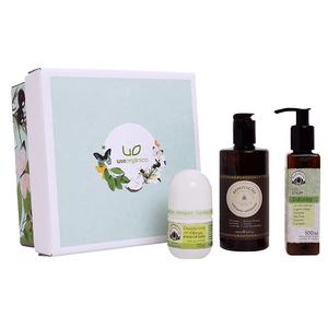 Kit-de-Presente-com-Cosmeticos-Naturais-para-Corpo-Banho-Use-Organico-