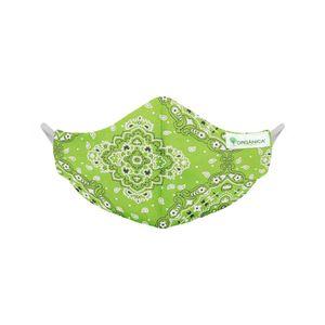 Mascara-de-Tecido-Lavavel-Dupla-Face-100-Algodao-Organica-verde-frente