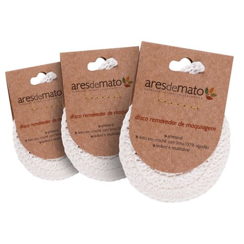 Kit-3-Ecopads-de-Disco-de-Croche-Reutilizavel---Ares-de-Mato