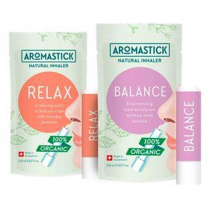 Kit-Equilibrio-com-2-Inaladores-Organicos-Balance-e-Relax---Aromastick