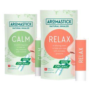 Kit-Relaxamento-2-Inaladores-Organicos-Calm-e-Relax---Aromastick