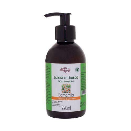 Sabonete-Liquido-Natural-Facial-e-Corporal-Sem-Fragrancia-220ml---Arte-dos-Aromas