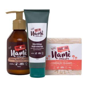 Kit-de-Tratamento-para-Peles-Sensiveis-Vegano-Name-Delicate-Natural-Messenger