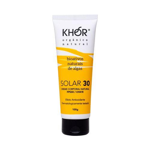 Protetor-Solar-Natural-Facial-e-Corporal-FPS-30-UVA-15-100g-Khor-Cosmetics